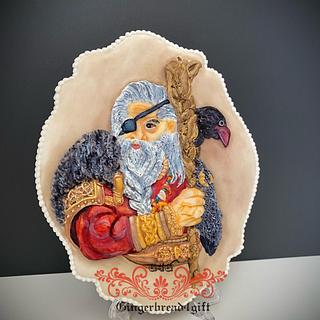 Odin, Viking  God  - Cake by Maria