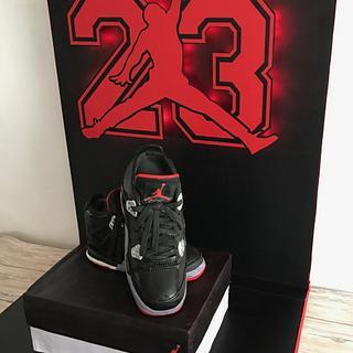Jordan sneaker shoe cake - Cake by Talk of the Town Cakes LLC
