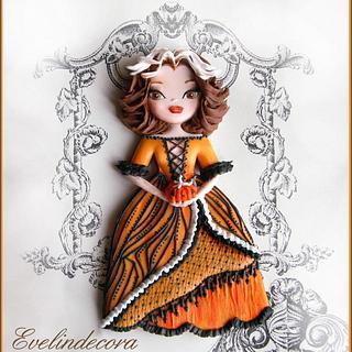 Halloween: pumpkin doll cookie