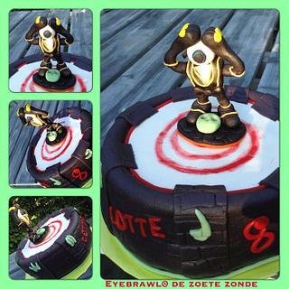 Eyebrawl skylander cake