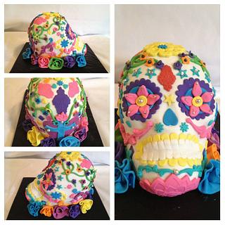 Sugar skull..Day of the dead cake