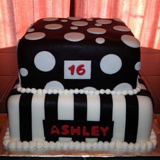 Black & White Birthday - Cake by Cathy Gileza Schatz