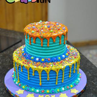 Buttercream, Drips and sprinkles - Cake by Cakes For Fun