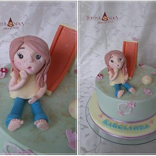 Cute little girl & slide
