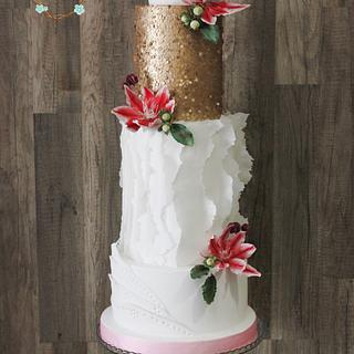 Clematis Wedding Cake