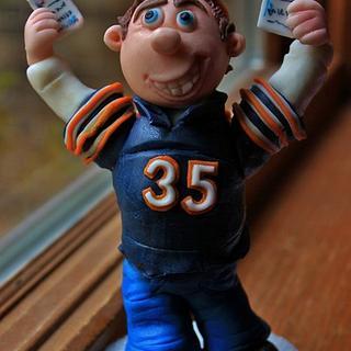 Chicago Bears cake topper