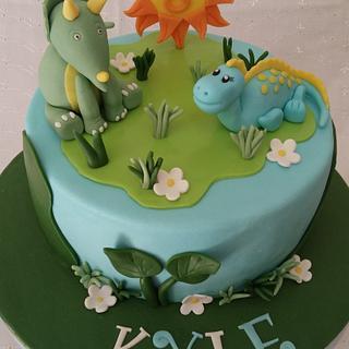 Dinosaurs cake - Cake by Iva Halacheva