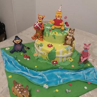 Winnie the Pooh and friends.