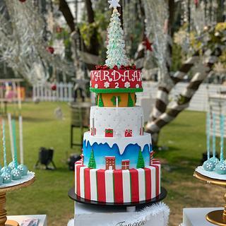 Winter Wonderland  - Cake by SugarfanciesbyPooja