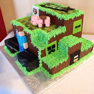Minecraft Builtup Cake - Cake by Cakes by Jo-Anne