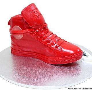 Nike sneaker cake