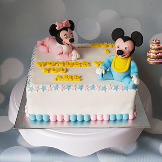 Gender Reveal cake - Cake by Pluympjescake