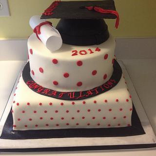 Congrat's Grad - Cake by Cosden's Cake Creations