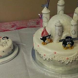 Penguin Princesses 1st Birthday/Smash Cakes - Cake by eiciedoesitcakes