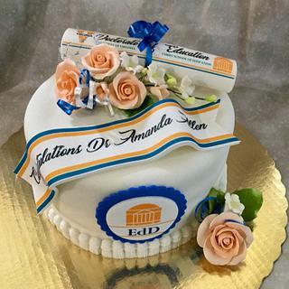 UVA PhD Education Cake