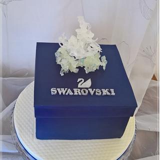 Swarovski cake & crystal