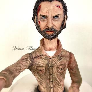 Rick from walking dead  - Cake by Hemu basu