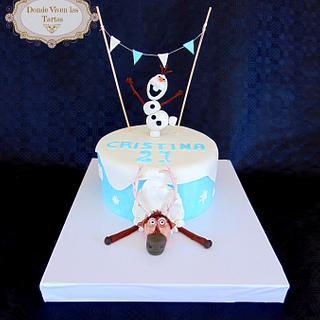 Olaf and Sven Cake