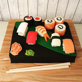 For the love of sushi - Cake by The Hot Pink Cake Studio by Ipshita