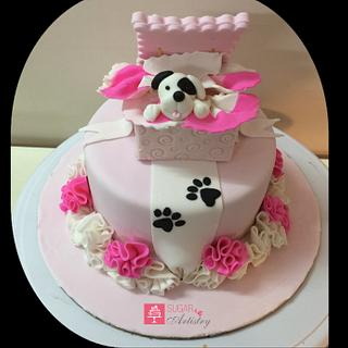 Puppy love - Cake by D Sugar Artistry - cake art with Shabana