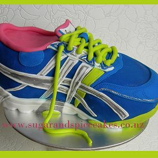 Asics Marathon Running Shoe for Sonja's 50th ~ - Cake by Mel_SugarandSpiceCakes