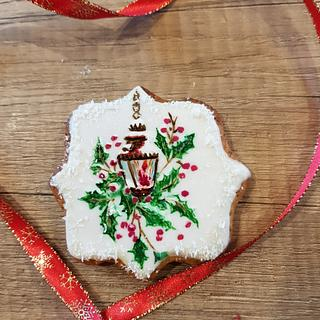 Hand painted Christmas cookie