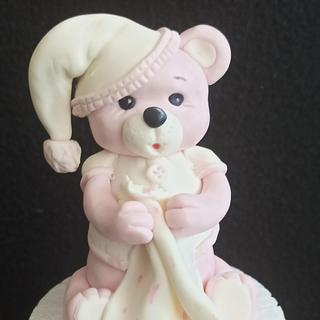 Pink teddy - Cake by Anka