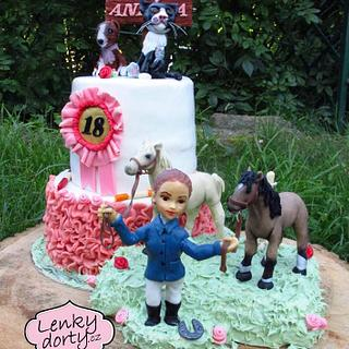 18 years old and animal friends - Cake by Lenkydorty