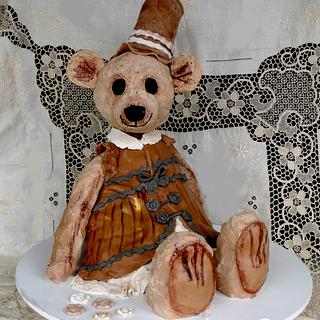 steampunk teddy bear cake