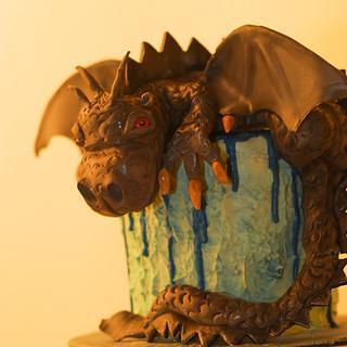 Dragon Drip Cake