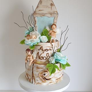 Boy Cristening cake