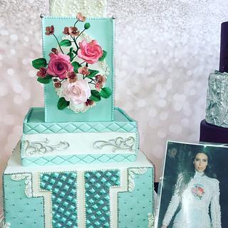 Balmain Kim kardashian cake