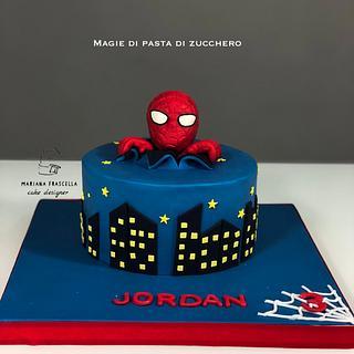 Spiderman  - Cake by Mariana Frascella