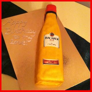 Bacardi 151 Bottle Birthday Cake - Cake by Michelle Allen