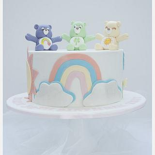 Rainbow, sunshine and care bears