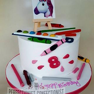 Ciara - Artist and Unicorns Birthday Cake