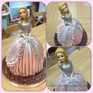 Completely edible princess doll cake