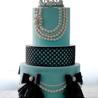 Breakfast at Tiffany's Birthday Cake - Cake by Make Fabulous Cakes