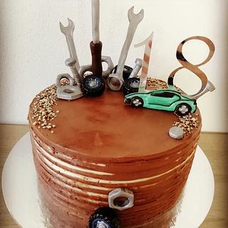 Cake for car mechanic - Cake by TinkyCake