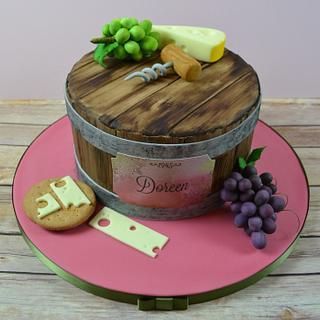 Wine barrel birthday cake - Cake by AMAE - The Cake Boutique
