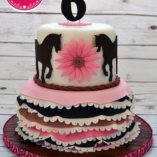 Country girl cake