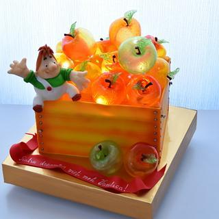 apple box cake - Cake by OxanaS