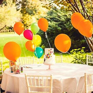 Silhouette Balloon Cake