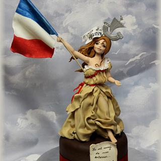 Marianne love Paris, peace on earth for all...  - Cake by L'atelier de Natasel
