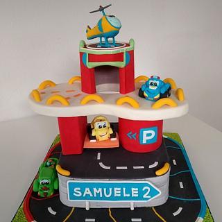 Parking area cake