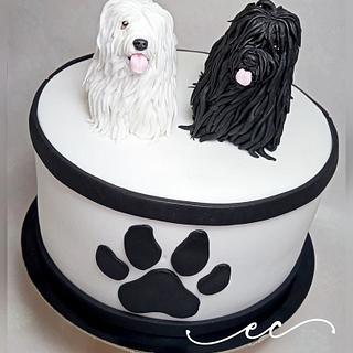 Puli dog cake