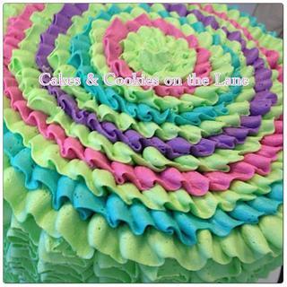 Festive Ruffle Cake