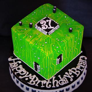 circuit board cake - Cake by Not Your Ordinary Cakes
