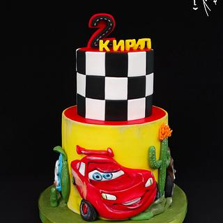 Mcqueen cars - Cake by Diana