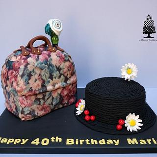 Mary Poppins Bag and Hat Cake